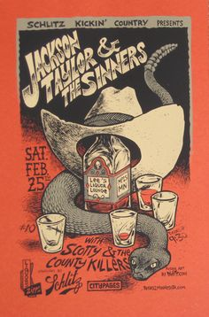 DWITT-   GigPosters.com - Jackson Taylor And The Sinners - Scotty And The County Killers