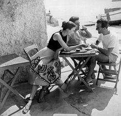1953. island of Ischia, Italy.  Model Joan Olsen. Photo by Regina Relang (B1906-D1989)