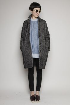 Cocoon coat and skinnies