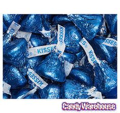 Just+found+Hershey's+Kisses+Dark+Blue+Foiled+Milk+Chocolate+Candy:+4LB+Bag+@CandyWarehouse,+Thanks+for+the+#CandyAssist! Candy Table, Candy Buffet, Wholesale Candy, Denim Party, Types Of Candy, Baby Shower Candy, Denim And Diamonds, Star Spangled Banner, Blue Candy