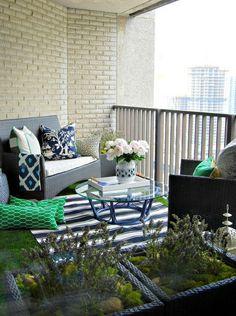 original decoración de terraza pequeña
