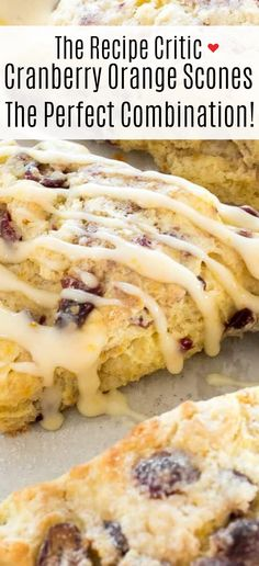 Bakery Style Cranberry Orange Scones! These scones are perfectly soft and fluffy on the inside and crisp and crunchy on the outside. They are bursting with cranberry and orange flavor and make the perfect Fall breakfast!