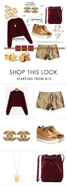 """The one fall outfit."" by tvdsarahmichele ❤ liked on Polyvore featuring Michael Kors, Chanel, STELLA McCARTNEY, Gorjana and Mansur Gavriel"