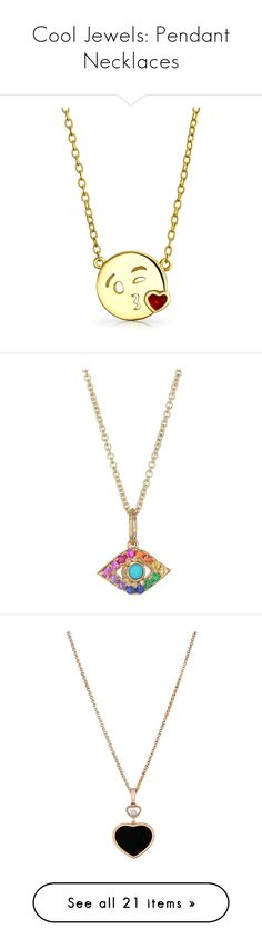 """Cool Jewels: Pendant Necklaces"" by polyvore-editorial ❤ liked on Polyvore featuring pendantnecklaces, jewelry, necklaces, necklaces pendants, round pendant, circle pendant, gold plated necklace, silver necklace pendant, gold plated pendants and evil eye pendant necklace"