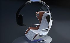Designs for a futuristic aircraft seat aimed at gaming fanatics have been unveil… Designs for a futuristic aircraft seat aimed at gaming fanatics have been unveiled in Germany this week. Car Interior Design, Office Furniture Design, Home Office Decor, Sofa Table Design, Portable High Chairs, Auditorium Seating, Car Chair, Aircraft Interiors, Computer Workstation