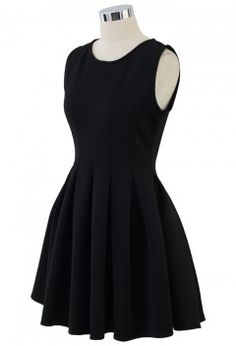 Favored Sleeveless Skater Dress in Black - Retro, Indie and Unique Fashion