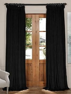 IYUEGO x Inch (set of 1 Panel), Pinch Pleat Solid Velvet Lining Blackout Curtain Thermal Insulated Patio Door Curtain Panel Drape For Traverse Rod and Track, Black Curtains 1 Panel, Patio Door Curtains, No Sew Curtains, Black Curtains, Cotton Curtains, Floral Curtains, Rustic Curtains, Rod Pocket Curtains, Thermal Curtains