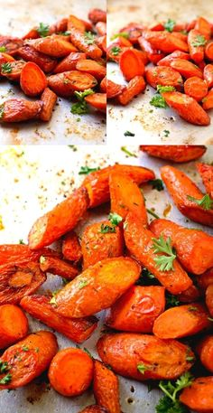 """""""How could something so simple be so good"""". Those were my husbands words after he tasted these Oven Roasted Carrots.  Truer words couldn't have been spoken.  You don't even have to peel the carrots when you make this delicious side dish."""