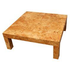 Burl Wood Coffee Table By Milo Baughman