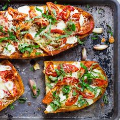 Margherita French Bread Pizzas with Roasted Garlic