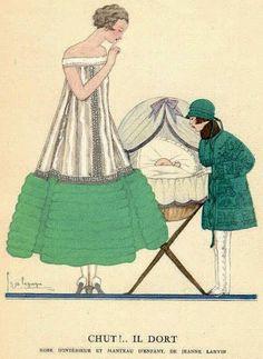 Gazette du Bon Ton - Illustrations - Georges Lepape - Jeanne Lanvin - 1924