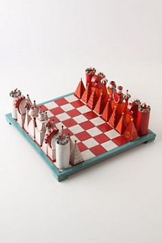 terracotta chess set  ~from anthropologie.com