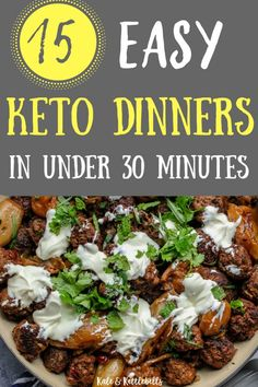 Get your low carb dinners sorted this week with these easy keto dinners that take LESS than 30 minutes to cook. Get your low carb dinners sorted this week with these easy keto dinners that take LESS than 30 minutes to cook. Keto Fat, Low Carb Diet, Ketogenic Recipes, Diet Recipes, Quick Recipes, Cake Recipes, Brunch Recipes, Dessert Recipes, Pollo Keto
