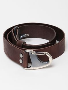 A brown leather belt from the ts