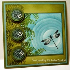 Dragonfly Pond Stampin' Up! card created by Michelle Zindorf using the Awesomely Artistic Stamp set.
