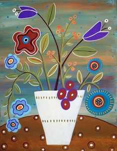 Folk Flowers by karlagerard, via Flickr