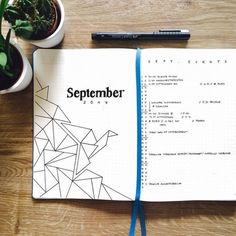 Bullet Journal Layout Ideas {[Would look even prettier coloured]} Planner Bullet Journal, Bullet Journal Themes, Bullet Journal Spread, Bullet Journal Inspo, Bullet Journal Layout, My Journal, Journal Covers, Journal Pages, Bullet Journal September Cover