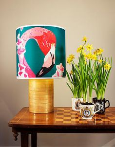 Flamingos and Flowers Lampshade, Chloe Croft