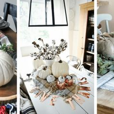 10 of the Most Gorgeous Farmhouse Fall Tablescapes - Centsible Chateau Cabinets To Ceiling, Laundry Room Cabinets, Diy Kitchen Cabinets, Painting Kitchen Cabinets, Kitchen Soffit, Gray Cabinets, Kitchen Redo, Kitchen Ideas, Kitchen Design