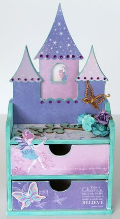 It goes without saying that this is a necessity for a Disney employee! This is going smack dab on my desk!!     Kaisercraft Magic Happens Fairy jewelry drawers - Scrapbook.com