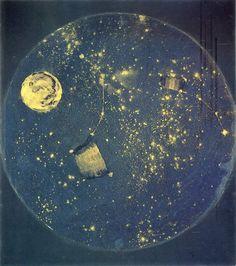 paulmetrinko:Arthur Dove, Starry Heavens, 1924, Oil and Metallic paint, 16 x 16 inches   WOW