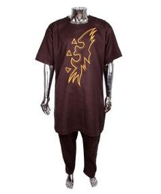 Buy Brown tradtional cordinate wear for men from Bosh Designs  at ₦25000.00 on Bargain Master Nigeria