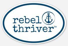 """Rebel Thriver """"Destination"""" Sticker"""