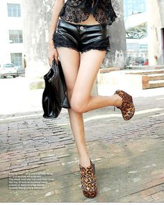 Black sexy lace low waist  leather pants - Fashion Clothing, Latest Street Fashion At Abaday.com