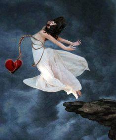 Jump broken heart Chained by muertosdesigns Pics Art, Art Pictures, Broken Heart Art, Sad Art, Gothic Art, Surreal Art, Fantasy Art, Cool Art, Art Photography