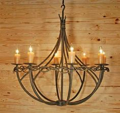 Stone County Ironworks Norfork 8-Arm Chandelier