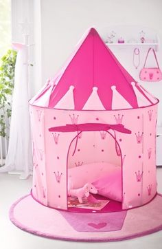 Adorable Princess Tent is sometimes the play place for very young Princessu0027s & Girls Pop Up Tent Castle Playhouse Wendy House Pink Indoor-Outdoor ...