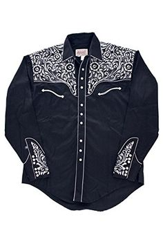 Buy Rockmount Vintage Tooling Embroidery Western Shirt Black 6859-BLKSILVER  - Topvintagestyle.com ✓ FREE DELIVERY possible on eligible purchases 94737eb1fb9b