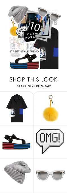 """""""Celebrate Our 10th Polyversary!"""" by cultofsharon ❤ liked on Polyvore featuring Fendi, Versace, Anya Hindmarch, UGG Australia, Acne Studios, iEva, StreetStyle, contest, polyversary and contestentry"""