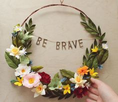 Empowering Floral Wreath by Grace Chin