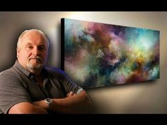 abstract art painting demo. depth & movement with simple blending & washes. Fun & Easy - YouTube