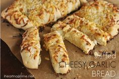 Stuffed Cheesy Garlic Bread by Your Homebased Mom featured on iheartnaptime.net!