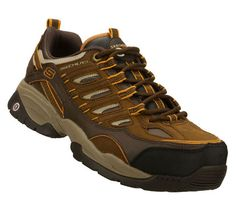 SKECHERS Mens Work Sparta S R Command Non-steel Safety Toe Shoes - Brown  Orange 52d338133