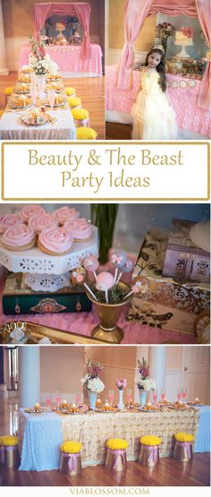 Be our guest to the most magical beauty and the beast party ideas! 4th Birthday Parties, Girl Birthday, Girl Parties, Birthday Ideas, Birthday Games, Princess Party, Princess Birthday, Unicorn Princess, Princess Belle