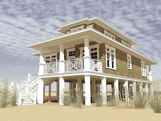 Beach House Plans & Coastal Home Plans – The House Plan Shop