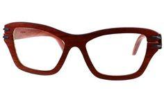 Gafas de sol en madera, filtro UV, marca Maguaco S025. Maderas: Palo Sangre Brasil y Guayacán Hobo. $200.000 COP