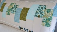 modest creations by michelle: a new (oversized) patchwork pillow