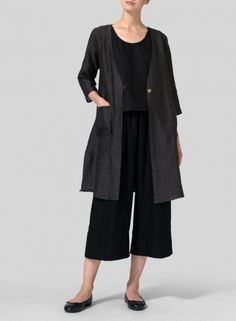 Linen Single-Button Oversized Jacket-Movement-friendly design. Making the line well suited for everything from travel to daily routines.