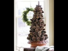Christmas tree made from Pine cones (DIY), My Crafts and DIY Projects