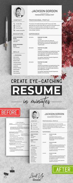 cv finance Professional Resume CV Template by LevelUpResume on creativemarket Resume Cv, Resume Tips, Resume Examples, Free Resume, Resume Ideas, Cv Tips, Resume Layout, Resume Writing, Skills On Resume
