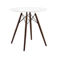 Simple, minimalist, and ultra-modern, this versatile accent table adds a chic quality to a room without overdoing it. This table is constructed with a sturdy lacquered top and solid wood legs, and is s...  Find the Bridge Accent Table in Walnut, as seen in the Happy Danish Modern Collection at http://dotandbo.com/collections/happy-danish-modern?utm_source=pinterest&utm_medium=organic&db_sku=DBI1501-WAL