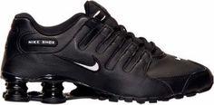 Men's Nike Shox NZ EU Running Shoes Black/White/Black