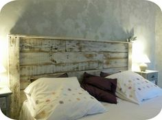 Récup palettes- 34 chambres à coucher- la tête de lit palette - chambre-a-coucher-vitange