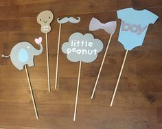 Elephant Little Peanut Baby Shower Photo Booth by MonroeAndCoShop