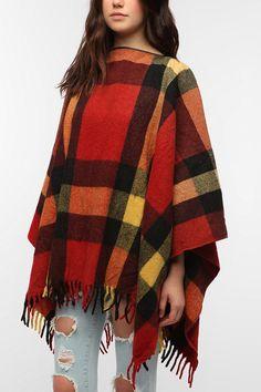 Urban Renewal Wool Blanket Poncho. For camping!!