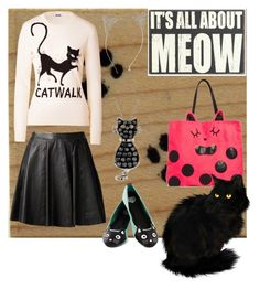 """""""Cat Lady"""" by koolkolourz on Polyvore featuring T.U.K., Reeds Jewelers, MuuBaa, Moschino Cheap & Chic and ASOS"""
